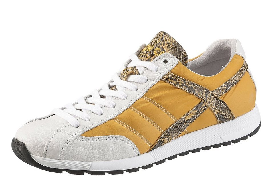 Yellow Cab Sneaker mit herausnehmbarer Sohle in gelb-weiß used
