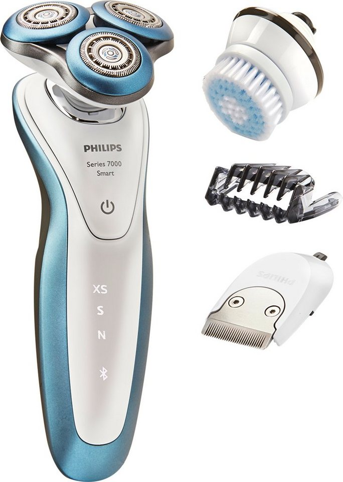 Philips, Rasierer, Series 7000 S7920/65, Smart Shaver über iPhone-App via Bluetooth, Akku