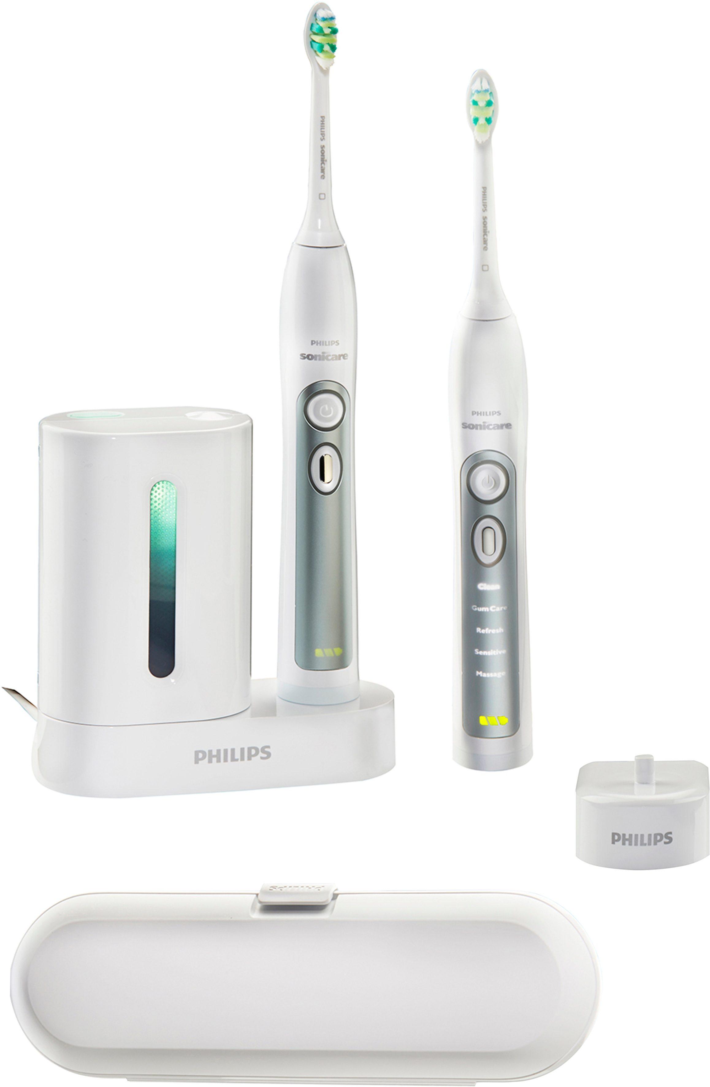 Philips Sonicare HX6972/35, Schallzahnbürste FlexCare+, inkl. UV Reinigungsgerät