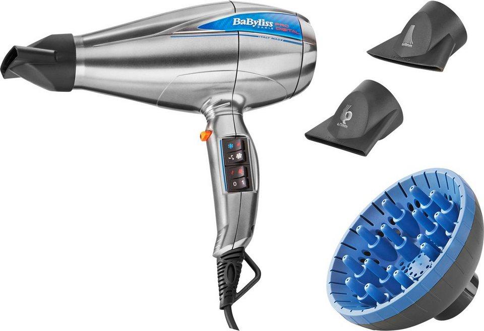 BaByliss, Profi Haartrockner, LE PRO DIGITAL 6000E, 2200W, Luftgeschwindigkeit von 208 km/h in silber-blau