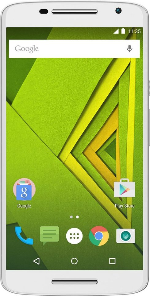 Lenovo Moto X Play - 16GB Smartphone, 14 cm (5,5 Zoll) Display, LTE (4G), Android 5.1 Lollipop in weiß