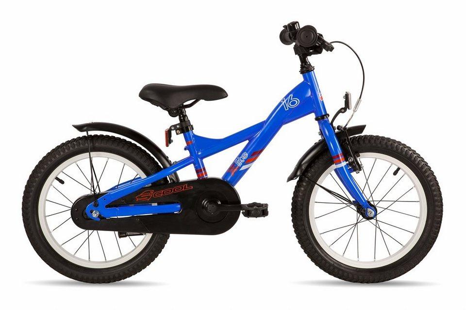 S'COOL Kinderrad »XXlite 16 steel« in blau
