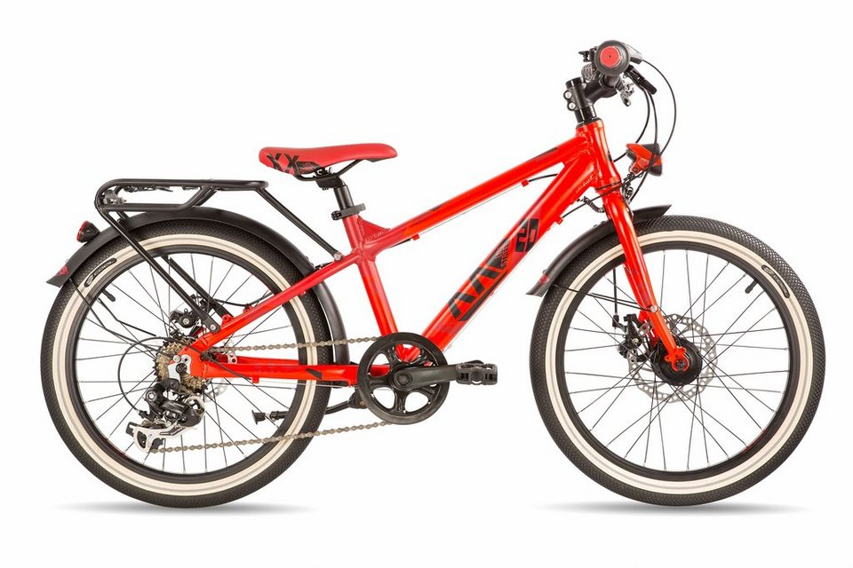 S'COOL Kinderrad »XXlite street 20-7 disc« in rot