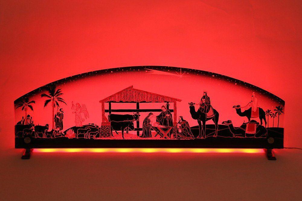 LED Glasleuchte Weihnachtskrippe mit Farbwechsel