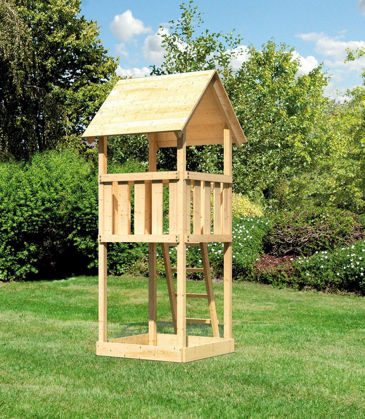 Karibu Einzel-Spielturm »Hummel«