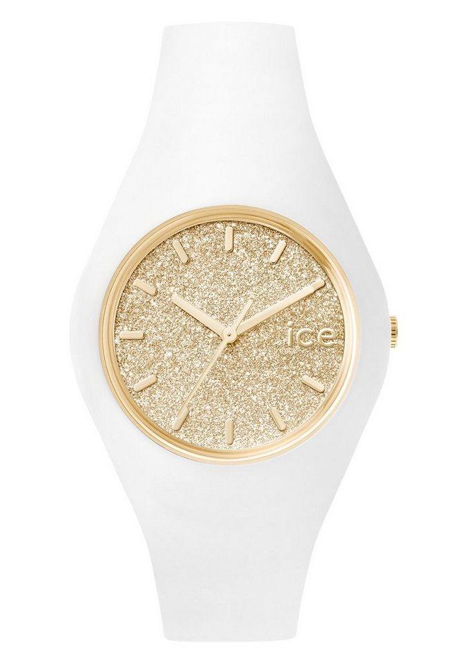 ice-watch Armbanduhr, »ICE glitter, ICE.GT.WGD.U.S.15« in weiß