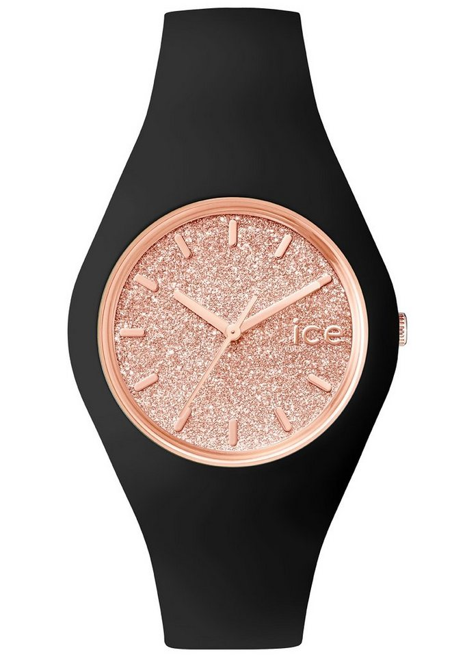 ice-watch Armbanduhr, »ICE glitter, ICE.GT.BRG.U.S.15« in schwarz