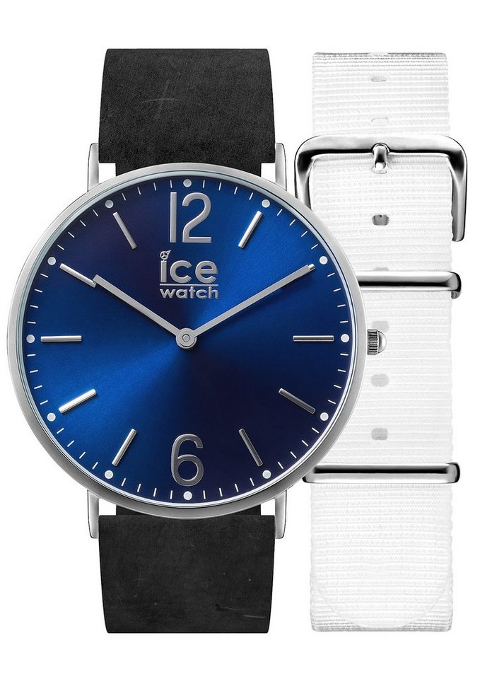 ice-watch Quarzuhr »ICE city Norwich, CHL.B.NOR.41.N.15« mit 1 Wechselband (Set, 2 tlg.) in schwarz-weiß