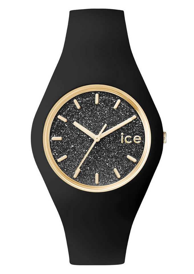 ice-watch Armbanduhr, »ICE glitter, ICE.GT.BBK.U.S.15« in schwarz