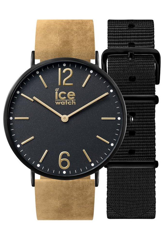 ice-watch Quarzuhr »ICE city Preston, CHL.B.PRE.41.N.15« mit 1 Wechselband (Set, 2 tlg.) in braun-schwarz