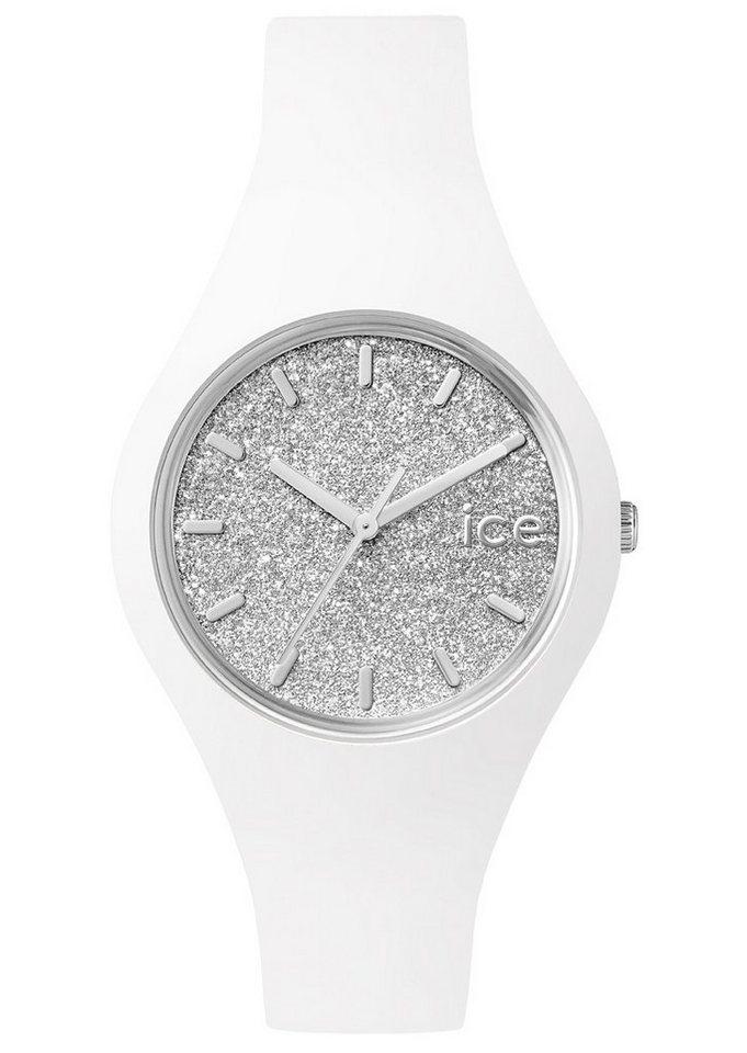 ice-watch Quarzuhr »ICE glitter, ICE.GT.WSR.S.S.15« in weiß