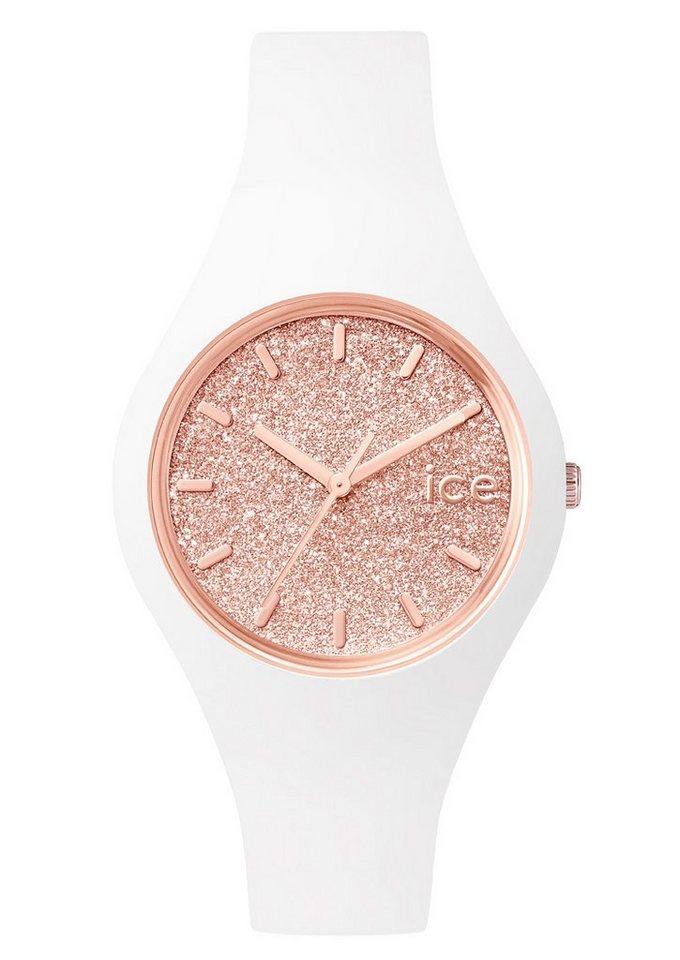 ice-watch Armbanduhr, »ICE glitter, ICE.GT.WRG.S.S.15« in weiß