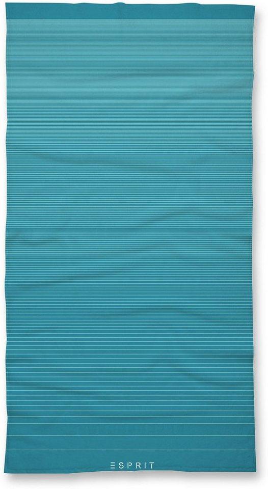 Handtücher, Esprit, »Grade«, im modernen Streifen-Design in aqua