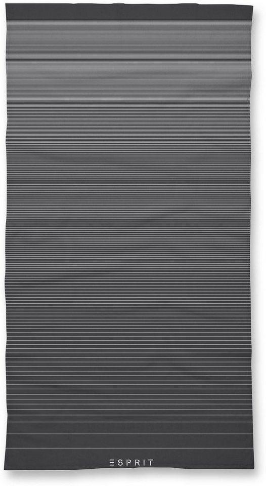 Handtücher, Esprit, »Grade«, im modernen Streifen-Design in anthrazit