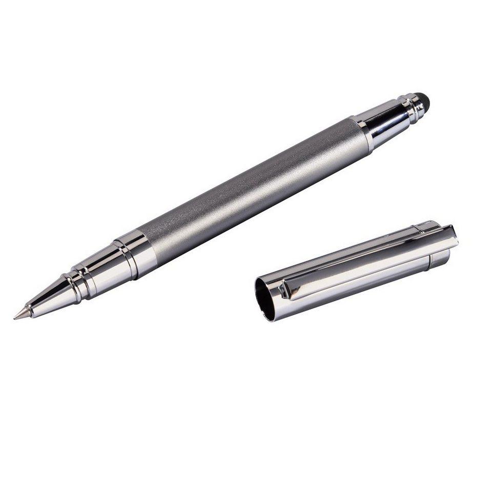 Hama Eingabestift mit Kugelschreiber für Tablets und Smartphones »2in1 Stylus Touchpen Stift« in Silber