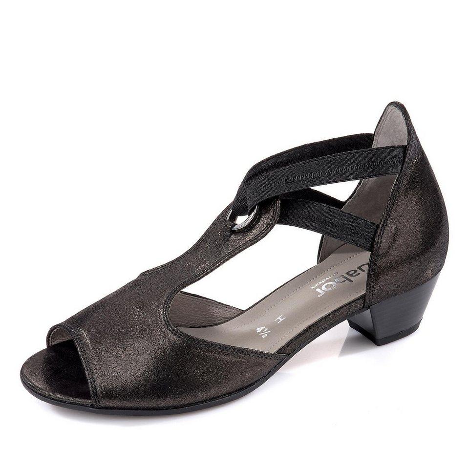 Gabor Comfort Sandalette in schwarz metallic