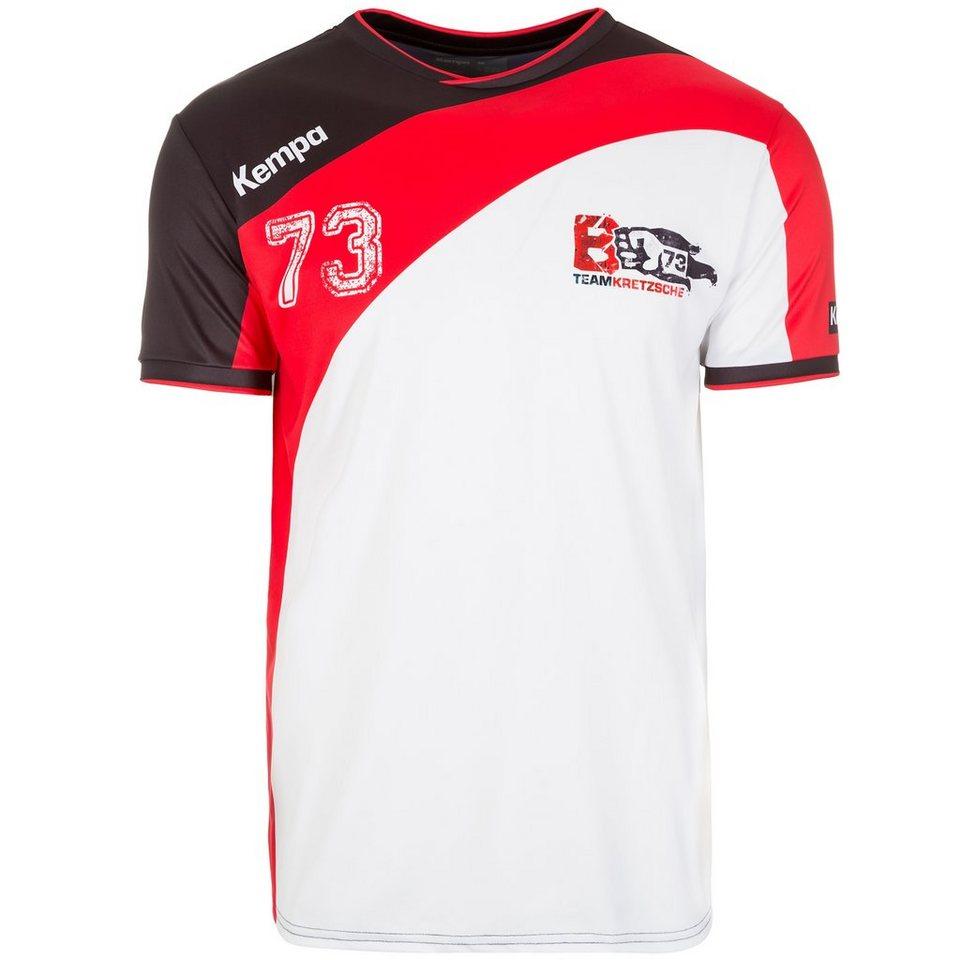 KEMPA Team Kretzsche Handballtrikot Herren in schwarz/weiß/rot
