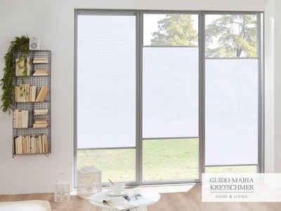 Plissee nach Maß »Flair«, Guido Maria Kretschmer Home&Living, Lichtschutz, mit Bohren, verspannt, komfortables Bedienprofil wahlweise in weiß oder silber