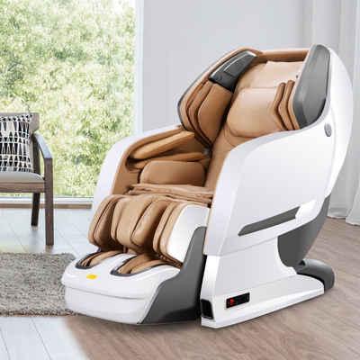 NAIPO Massagesessel »MGC-8600WK, MGC-8600BR, MGC-8600WB«, Heizung, Schwerelosigkeit, SL Track, Klopfen, Kneten, Luft-Massage-System, Bluetooth 3D Surround Sound Musik, für Zuhause und Büro