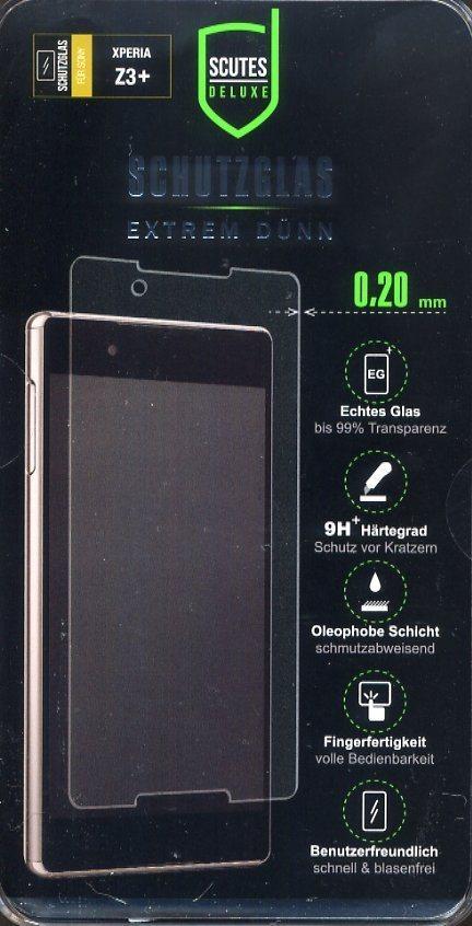 Scutes Deluxe Schutzglas Sony Z3 plus 0,20 mm 9H »(Tablet/Smartphone)«