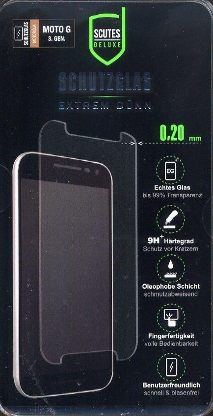 Scutes Deluxe Schutzglas Motorola 3.Generation 0,20 mm 9H »(Tablet/Smartphone)«