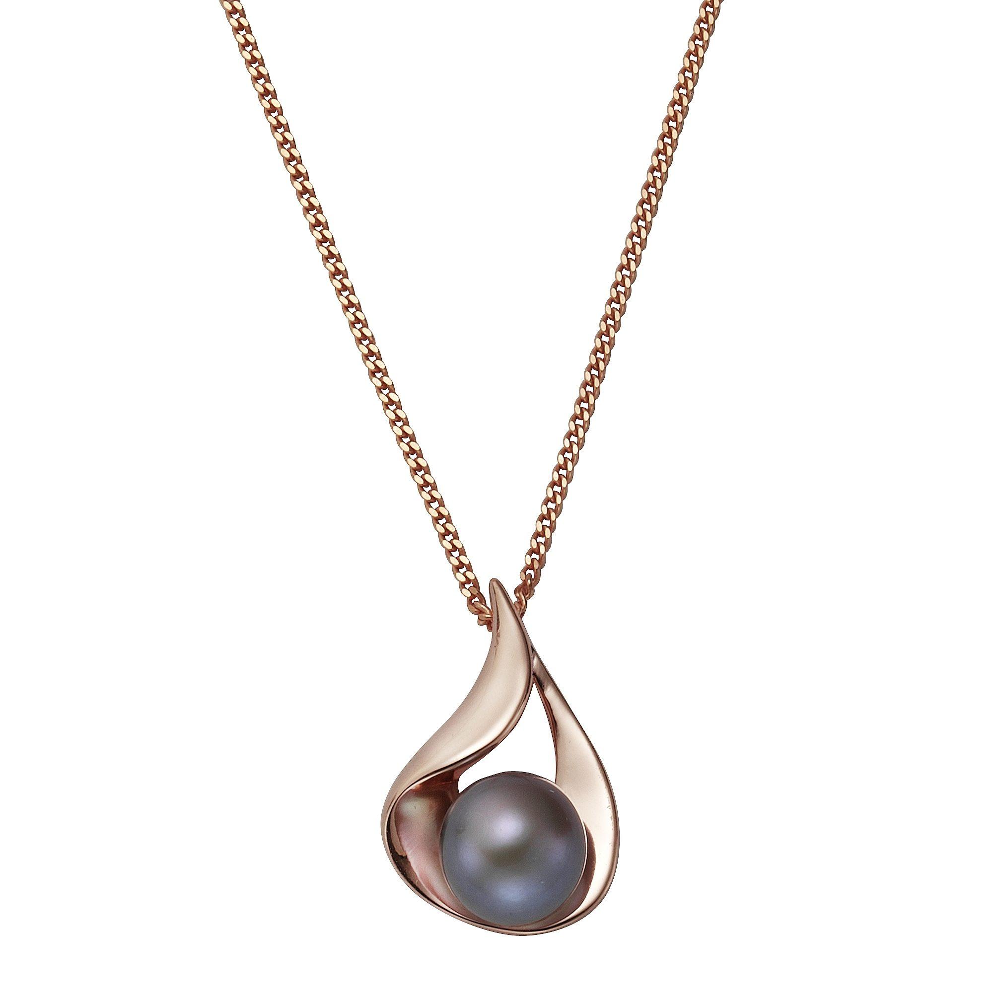 Zeeme Anhänger mit Kette »925/- Sterling Silber Perle grau«