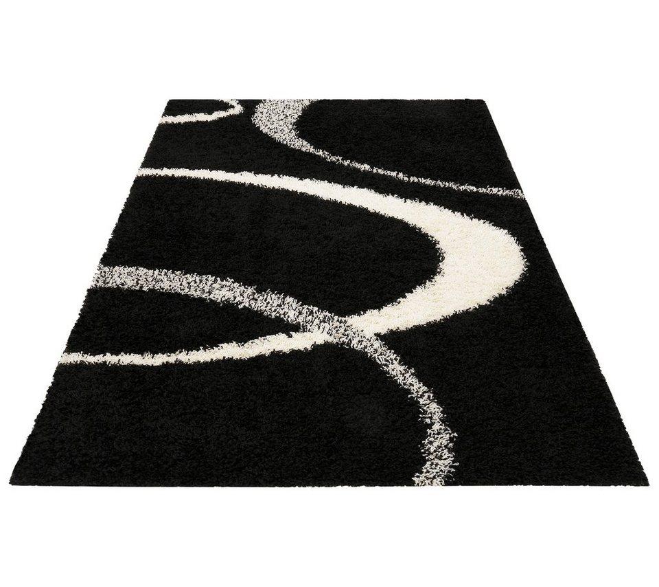 Hochflorteppich, my home, »Ankara«, Höhe 52 mm, gewebt in schwarz