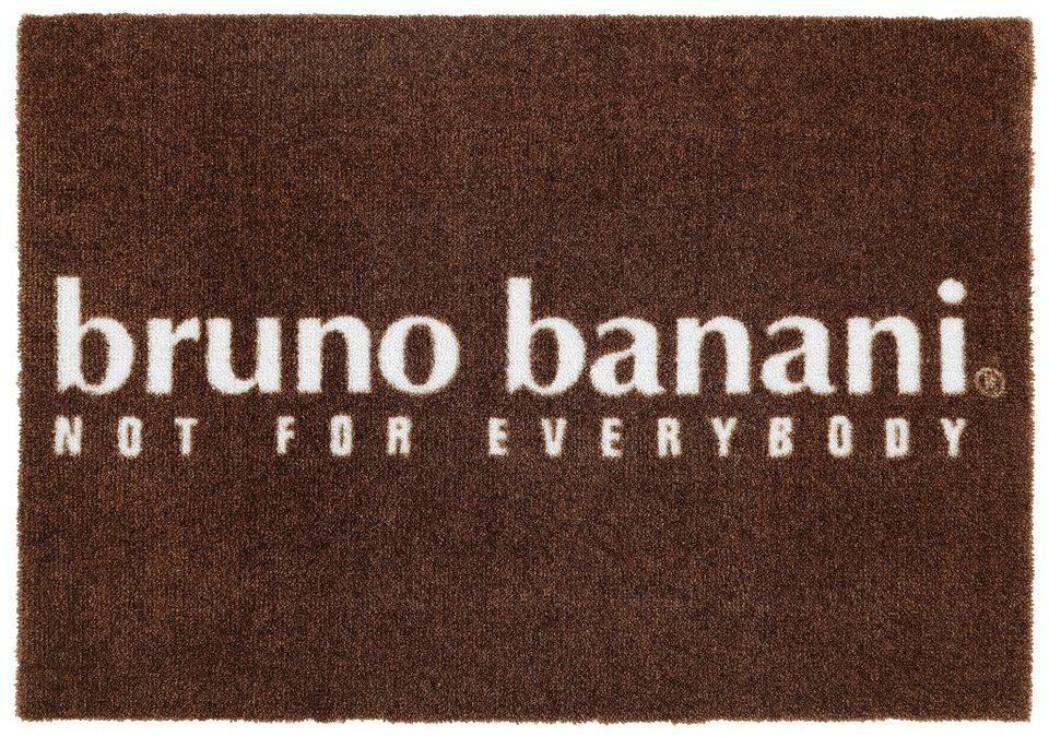 Fußmatte, Bruno Banani, »Bruno«, waschbar, mit rutschhemmender Beschichtung in braun