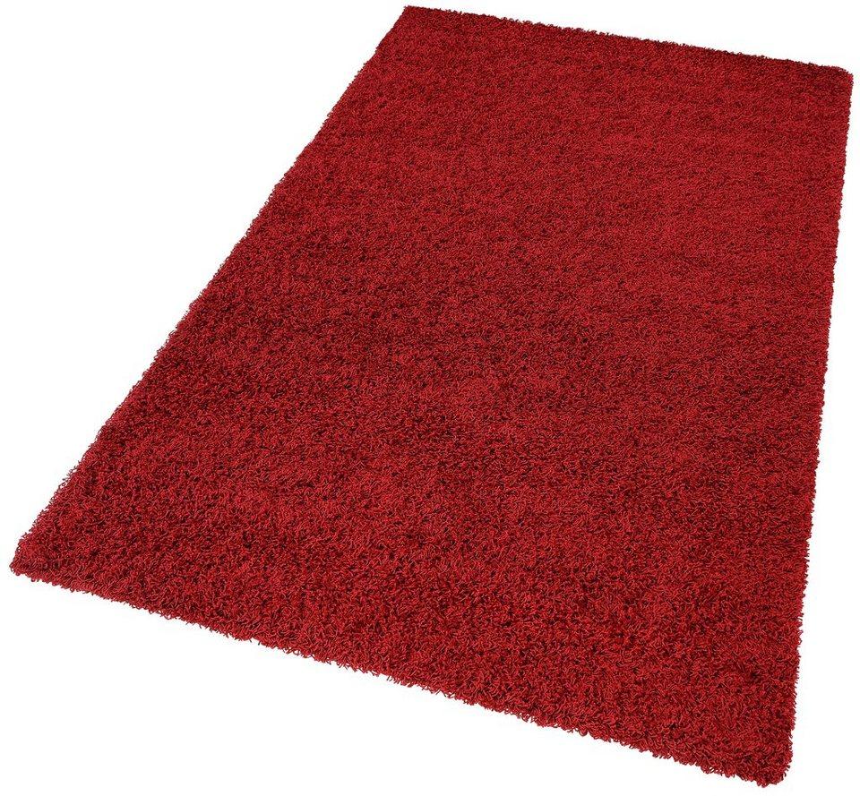 Hochflor-Teppich, my home, »Spa«, Höhe 45 mm, gewebt in bordeaux