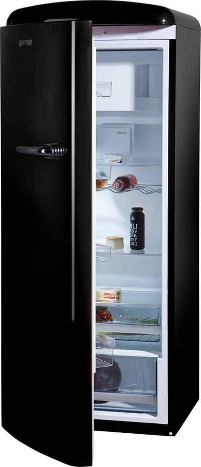 GORENJE Kühlschrank ORB153BK-L, 154 cm hoch, 60 cm breit, 154 cm hoch, 60 cm breit
