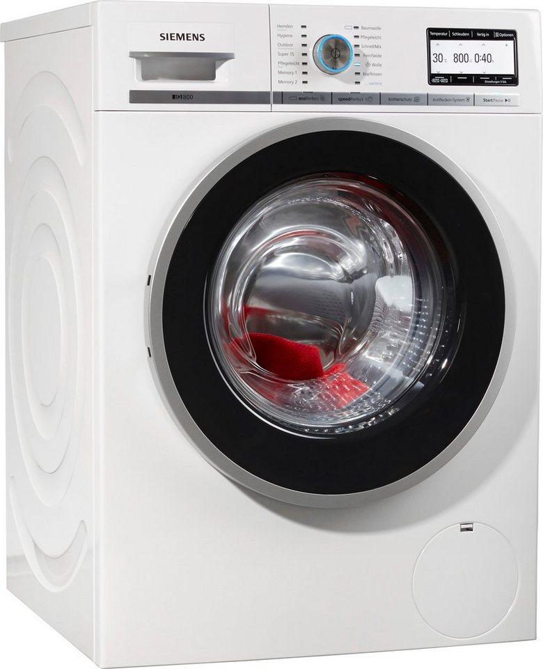 SIEMENS Waschmaschine WM14Y74D, A+++, 8 kg, 1400 U/Min in weiß