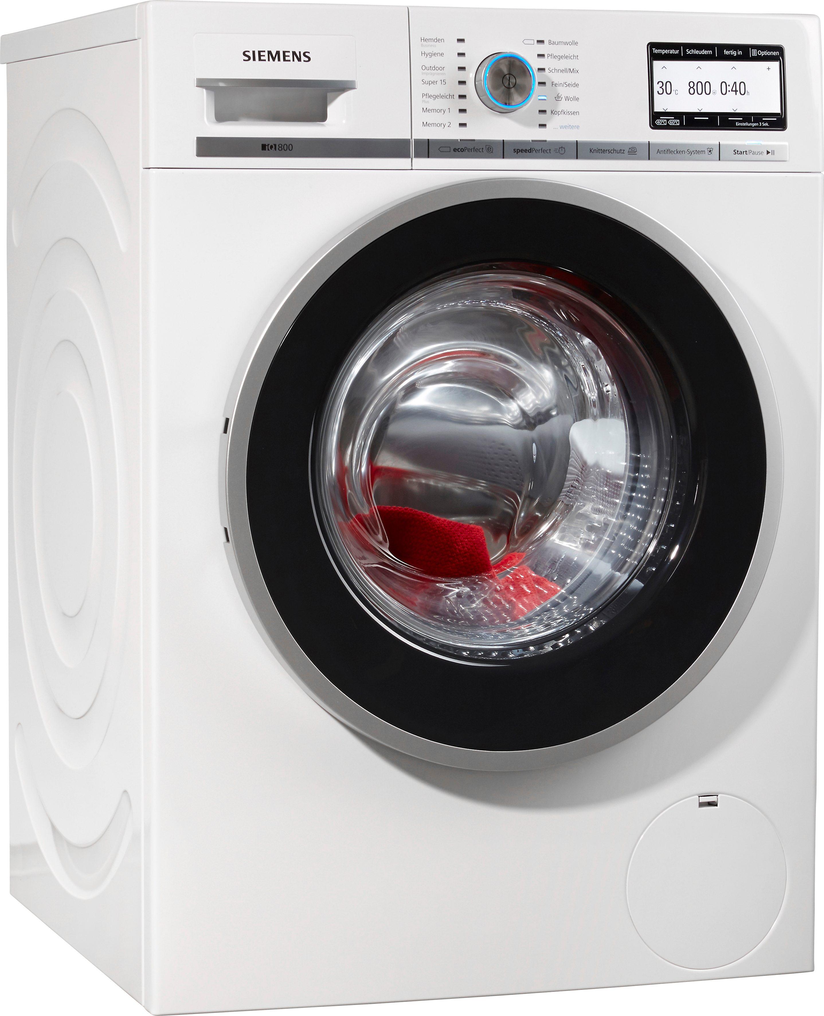 SIEMENS Waschmaschine WM14Y74D, A+++, 8 kg, 1400 U/Min