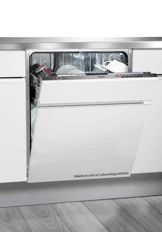 AEG vollintegrierbarer Einbau-Geschirrspüler FAVORIT / F76602VI0P, A+++, 10,2 Liter, 13 Maßgedecke in weiß