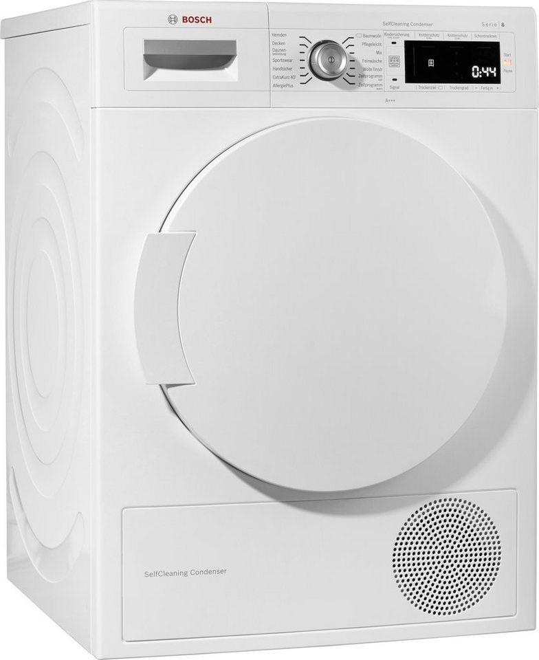 BOSCH Trockner WTW845W0, A+++, 8 kg in weiß