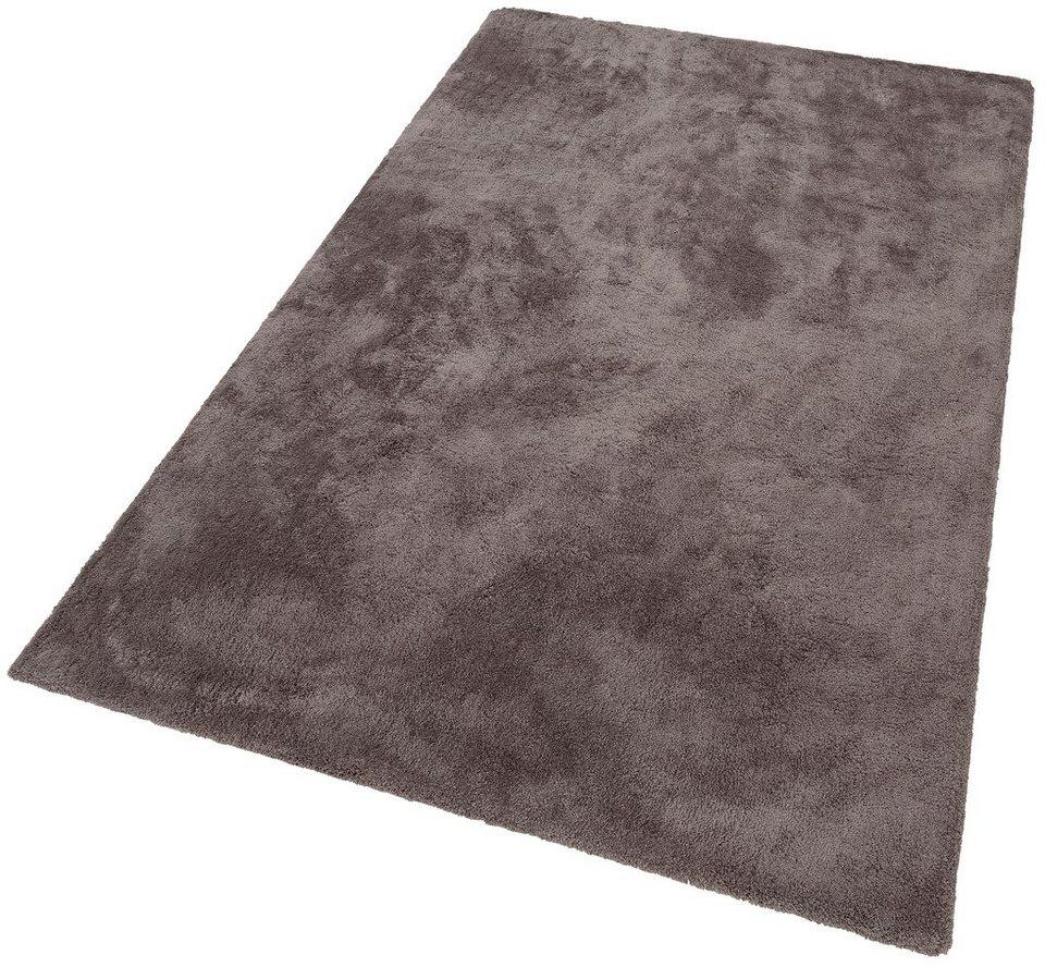 Hochflorteppich, My home Selection, »Magong«, Höhe 25 mm, handgetuftet in grau