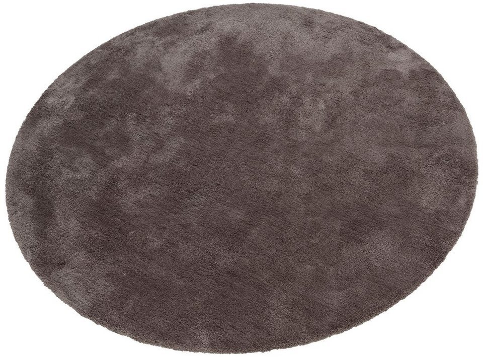 Hochflorteppich rund, My home Selection, »Magong«, Höhe 25 mm, handgetuftet in grau