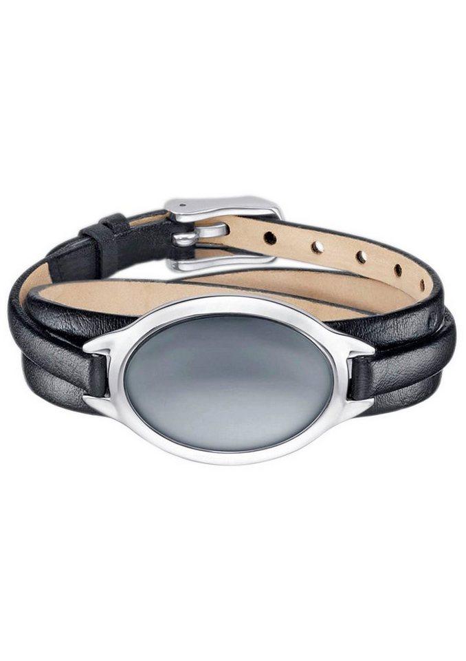 Skagen, Armband, »Sea Glass, SKJ0390040« in schwarz/silberfarben/blau