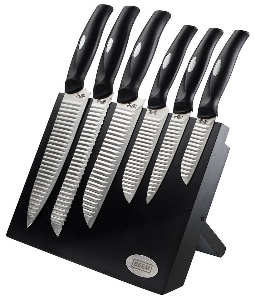 BEEM Messerblock, »HONSHU Master Edelstahl-Messerset« in schwarz-silber