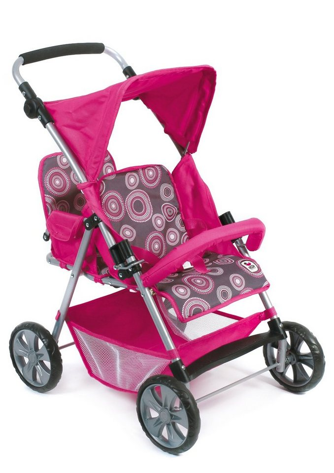 CHIC2000 Zwillings-Puppen-Buggy, »Tandem Hot Pink«