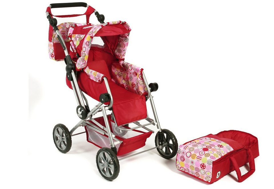 CHIC2000 Puppenwagen mit Wickeltasche, »Road Star, Ruby Red« in rot