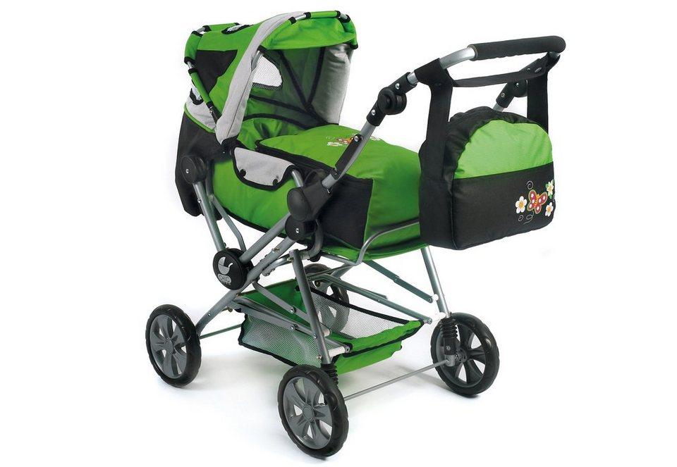 CHIC2000 Puppenwagen mit Tasche, »Road Star, Sommerwiese« in grün
