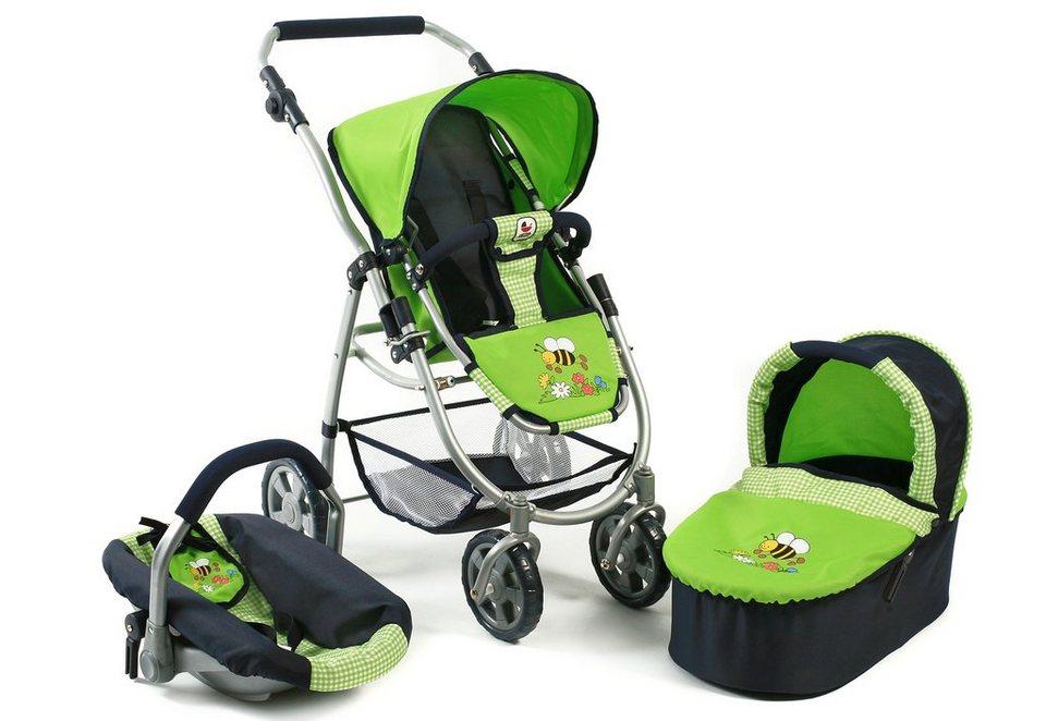 CHIC2000 3-in-1 Puppenwagen, »Emotion all in, Sommerwiese« in grün