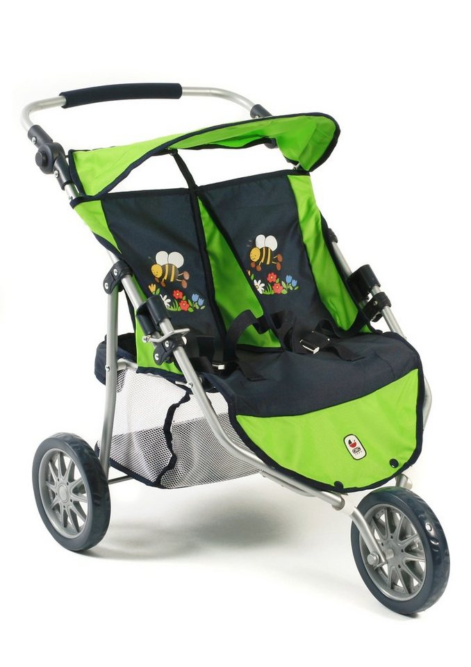 chic2000 3 rad puppen buggy zwillings jogger bumblebee. Black Bedroom Furniture Sets. Home Design Ideas