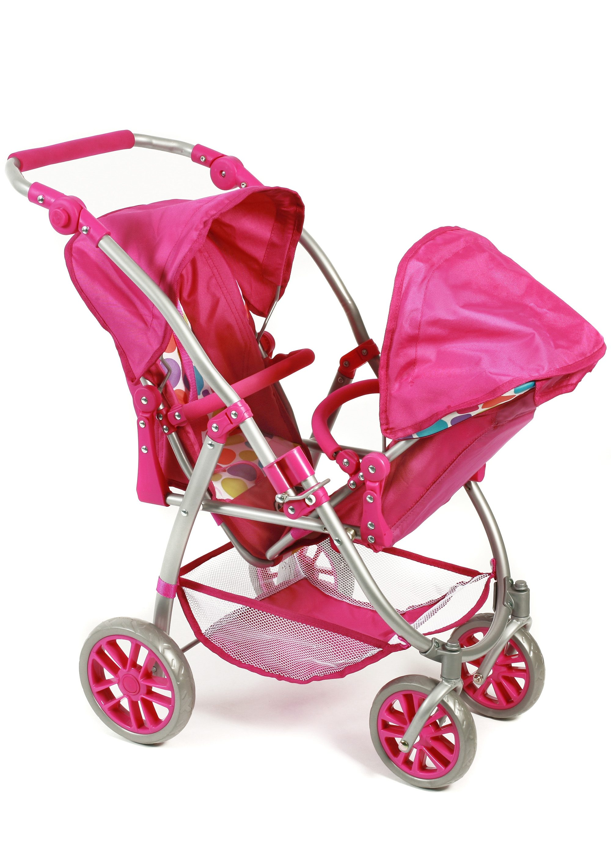 CHIC2000 Puppen-Tandem-Buggy, »Vario, Pinky Bubbles«