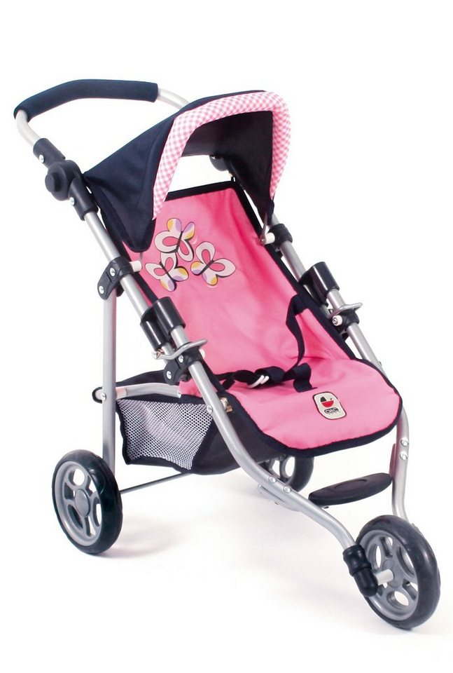 CHIC2000 Puppen-Jogging-Buggy, »Lola, Pink Checker« in rosa