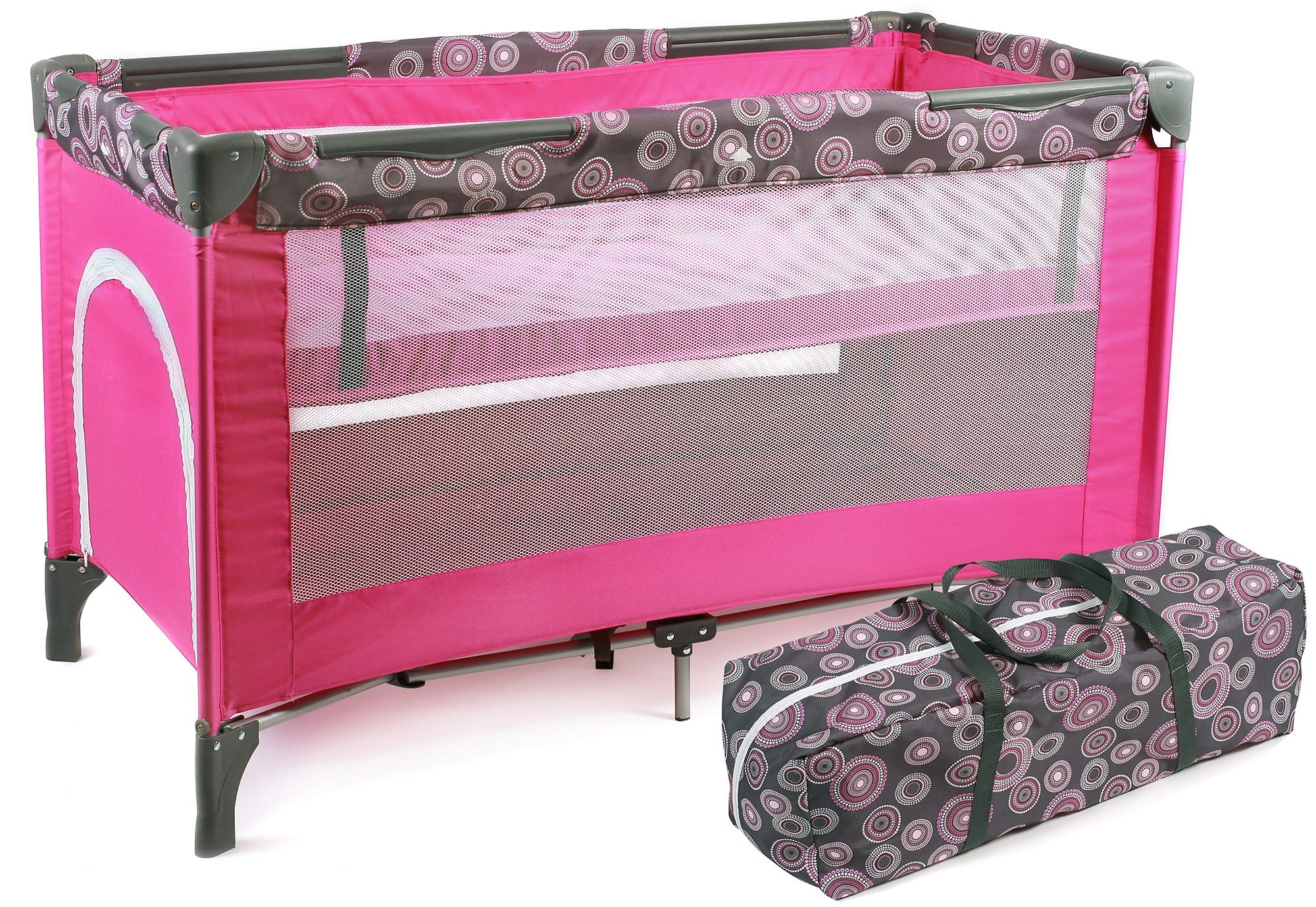CHIC4BABY Reisebett, »Luxus, hot pink«