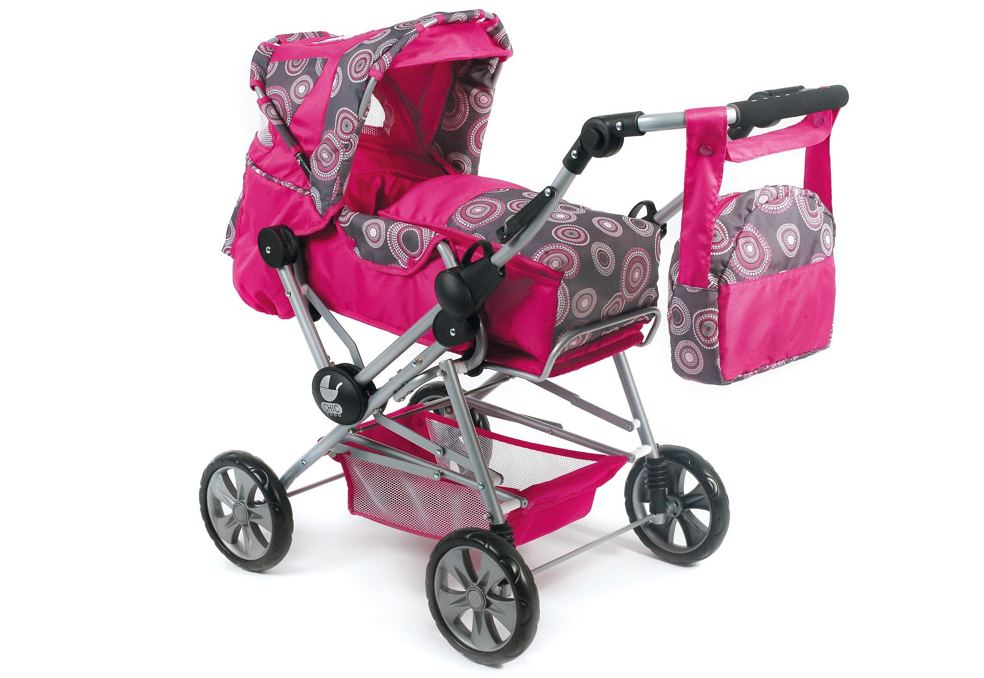 CHIC2000 Puppenwagen mit Tasche, »Road Star, Hot Pink«