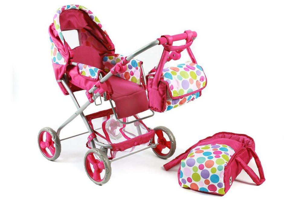 CHIC2000 Puppenwagen mit Umhängetasche, »Bambina, Bubbles« in pink