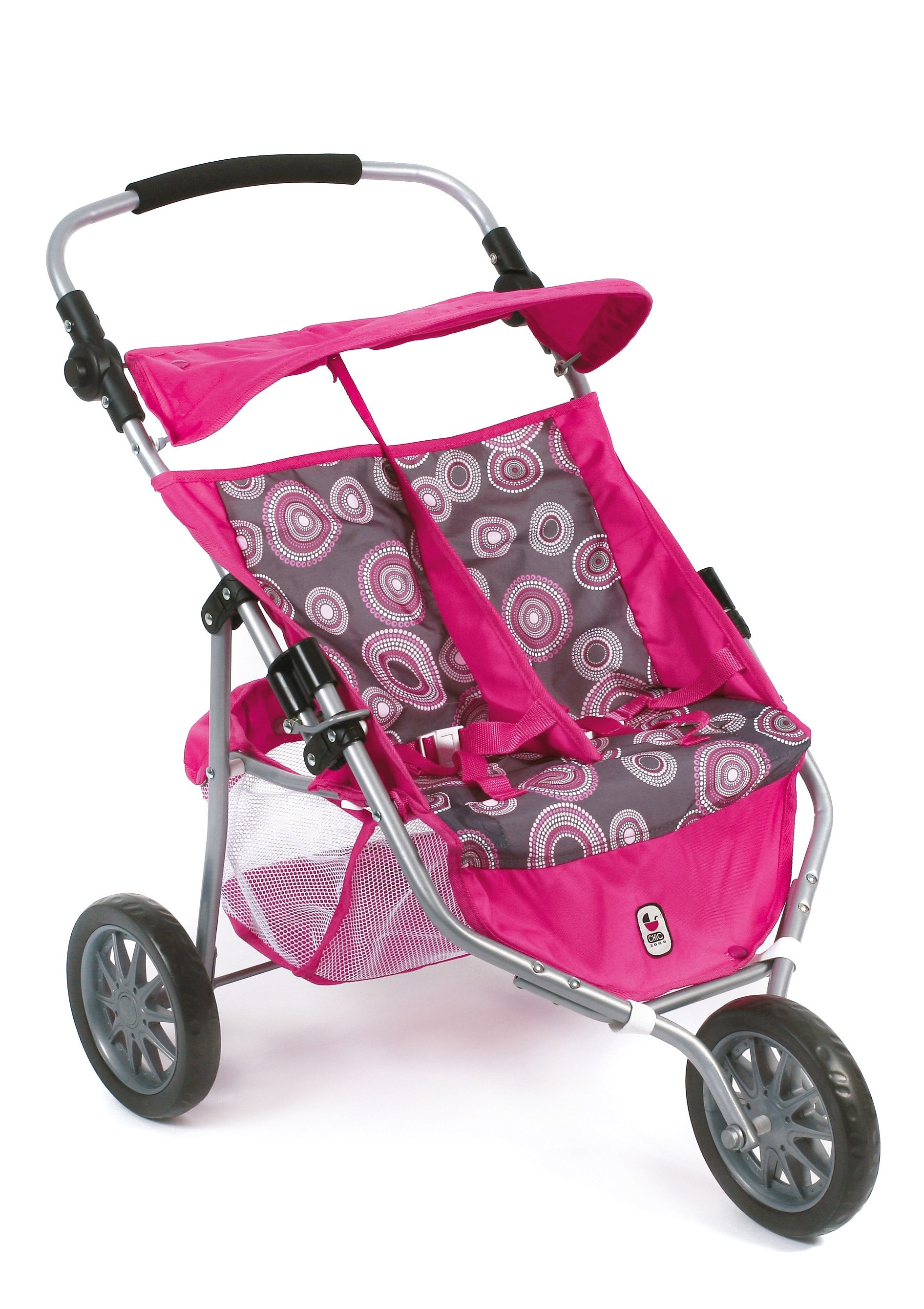 CHIC2000 3-Rad-Puppen-Buggy, »Zwillings-Jogger, Hot pink«