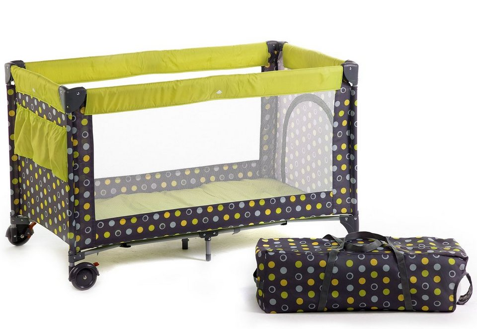 CHIC4BABY Reisebett, »Luxus, lemontree« in lemontree